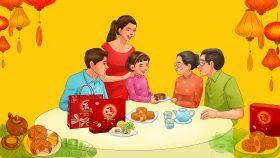 Hình ảnh gia đình xum vầy