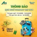 THÔNG BÁO COMPANY TRIP 2019